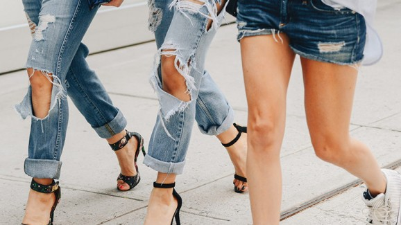 No radar: destroyed jeans