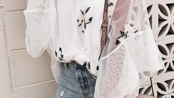 5 ideias para usar a sua blusa transparente